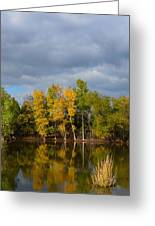 Fall Pond Reflection Greeting Card