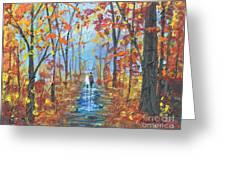 Fall Promenade  Greeting Card