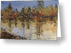 Fall Reflected Greeting Card