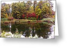 Fall Reflection And Colors Greeting Card
