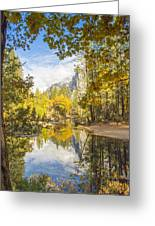 Fall Reflection In Yosemite Greeting Card
