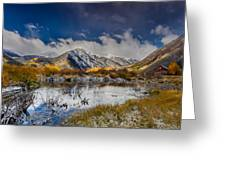 Fall Reflection Pond Greeting Card