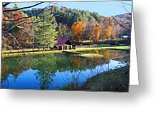 Fall Reflections At The Farm  Greeting Card