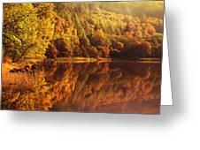 Fall Reflections. Loch Achray. Scotland Greeting Card
