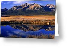 Fall Reflections Sawtooth Mountains Idaho Greeting Card