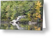 Fall Reflections Wc Greeting Card