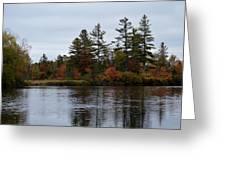 Fall River Colors Greeting Card