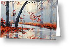 Fall River Painting Greeting Card