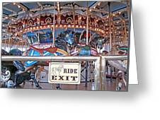 Fall River Ride Exit Greeting Card