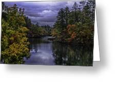 Fall River Scene Greeting Card