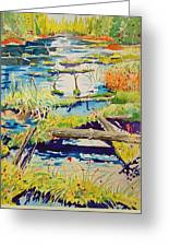 Fall River Scene Greeting Card