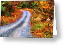 Fall Road To Paradise Greeting Card