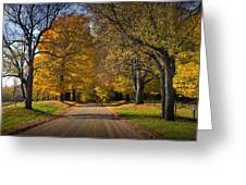 Fall Rural Country Gravel Road Greeting Card