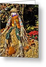 Fall Scarecrow Greeting Card