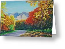 Fall Scene - Mountain Drive Greeting Card