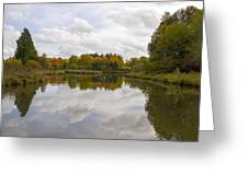 Fall Season By The Pond Greeting Card
