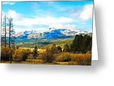 Fall Season In The Sierras Greeting Card
