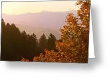 Fall Smoky Mountains Greeting Card