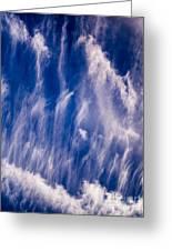 Fall Streak Clouds  Greeting Card
