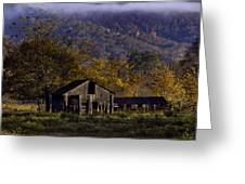Fall Sunrise Old Barn At 21/43 Intersection Greeting Card
