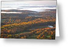 Fall Sunrise Over New Jersey Greeting Card