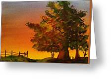 Fall Sunset Greeting Card