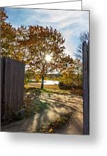 Fall Through The Gate Greeting Card