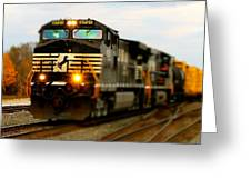 Fall Train Greeting Card