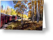 Fall Train Ride New Mexico Greeting Card