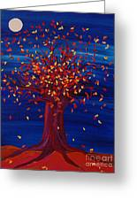 Fall Tree Fantasy By Jrr Greeting Card