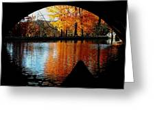 Fall Under The Bridge Greeting Card
