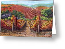Fall Vineyard Greeting Card