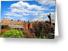 Fall Walk On The High Line Greeting Card