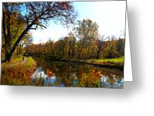 Fall Water Reflections Greeting Card