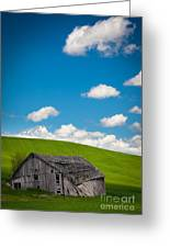 Fallen Barn Greeting Card