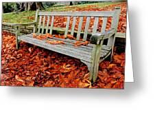 Fallen Bench Greeting Card