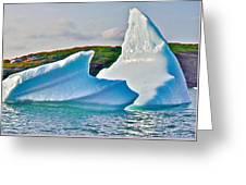 Fallen Clouds Iceberg Closeup In Saint Anthony Bay-newfoundland-canada  Greeting Card