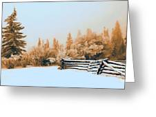 Fallen Fence Line Greeting Card