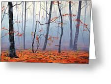 Fallen Leaves Greeting Card by Graham Gercken