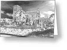 Fallen Night At Dunlop Kirk Greeting Card
