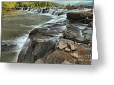 Falling Across The New River Greeting Card