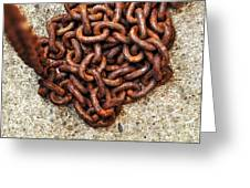 Falling Chain Greeting Card