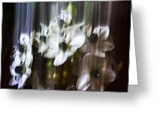 Falling Flowers Greeting Card