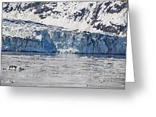 Falling Glacier Greeting Card