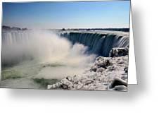 Falling Ice Greeting Card