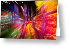 Falling Into Glass Greeting Card