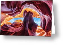 Falling Into The Sky Greeting Card