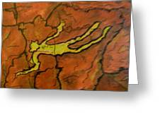 Falling Man Rock Art Greeting Card