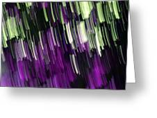 Falling Purple Greeting Card