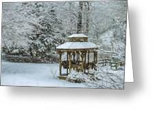 Falling Snow - Winter Landscape Greeting Card
